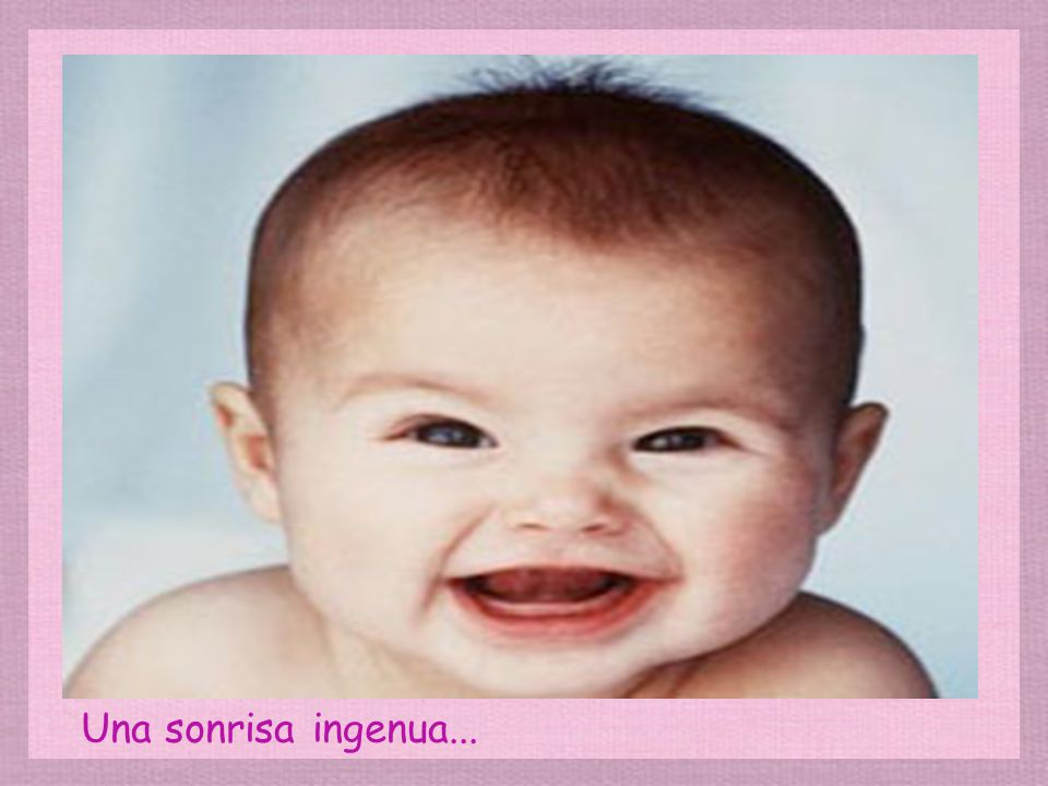 Una sonrisa muy traviesa...