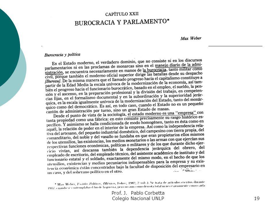 Prof. J. Pablo Corbetta Colegio Nacional UNLP19