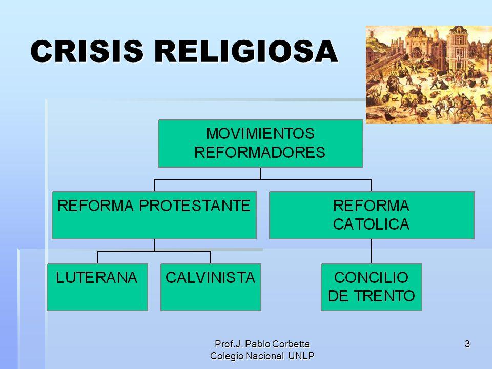 Prof.J. Pablo Corbetta Colegio Nacional UNLP 3 CRISIS RELIGIOSA