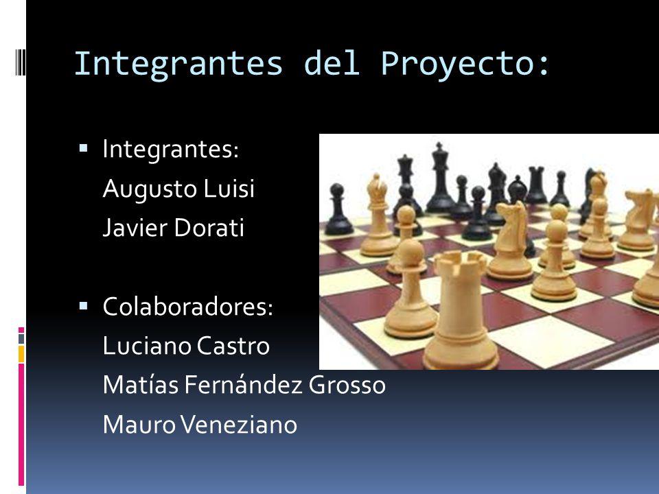 Integrantes del Proyecto: Integrantes: Augusto Luisi Javier Dorati Colaboradores: Luciano Castro Matías Fernández Grosso Mauro Veneziano