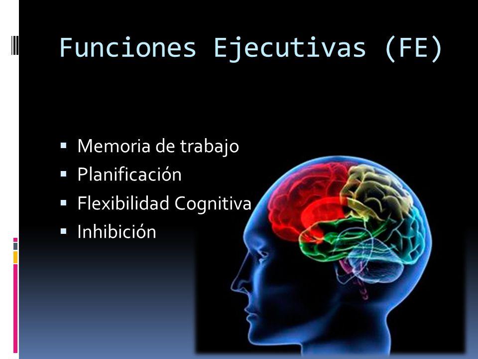 Funciones Ejecutivas (FE) Memoria de trabajo Planificación Flexibilidad Cognitiva Inhibición