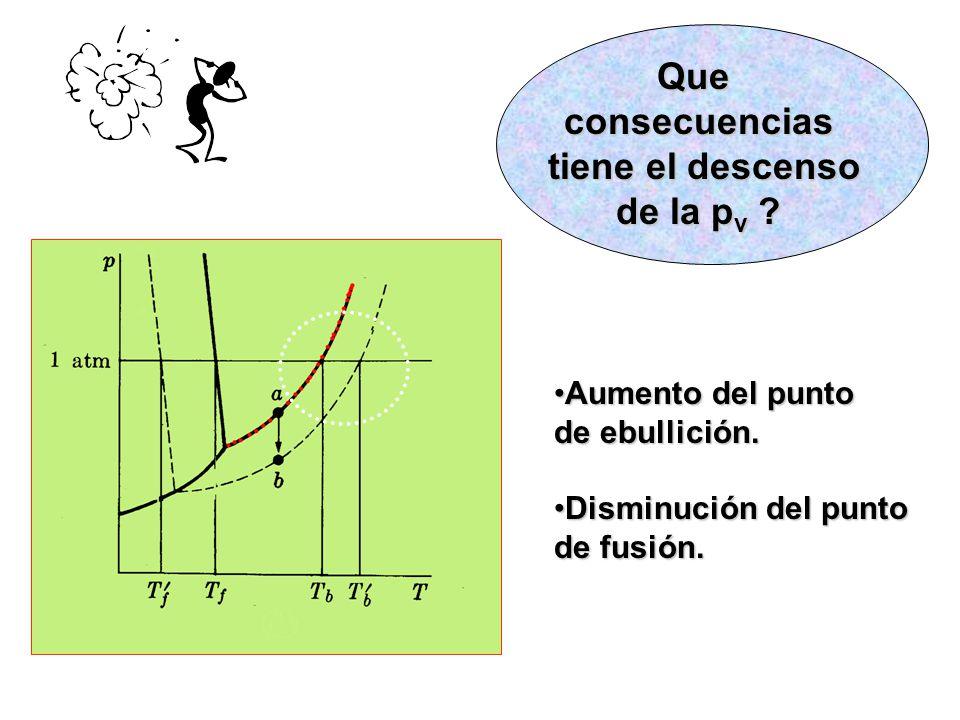 Queconsecuencias tiene el descenso tiene el descenso de la p v .