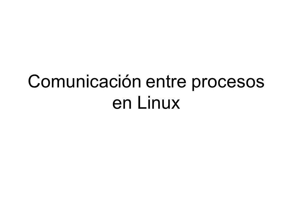 Comunicación entre procesos en Linux