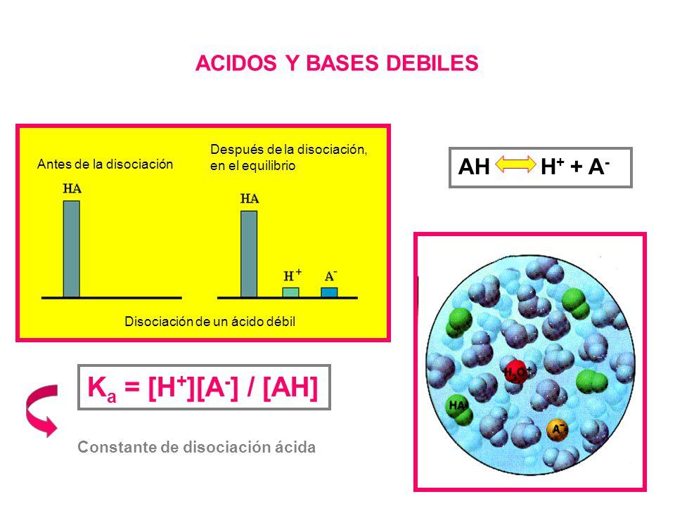Veamos el ejemplo: HCl H + + Cl - Relaciones de conservación de la masa [HCl] 0 = a [Cl - ]= a Kw = [H + ][OH - ] Además está presente el equilibrio H