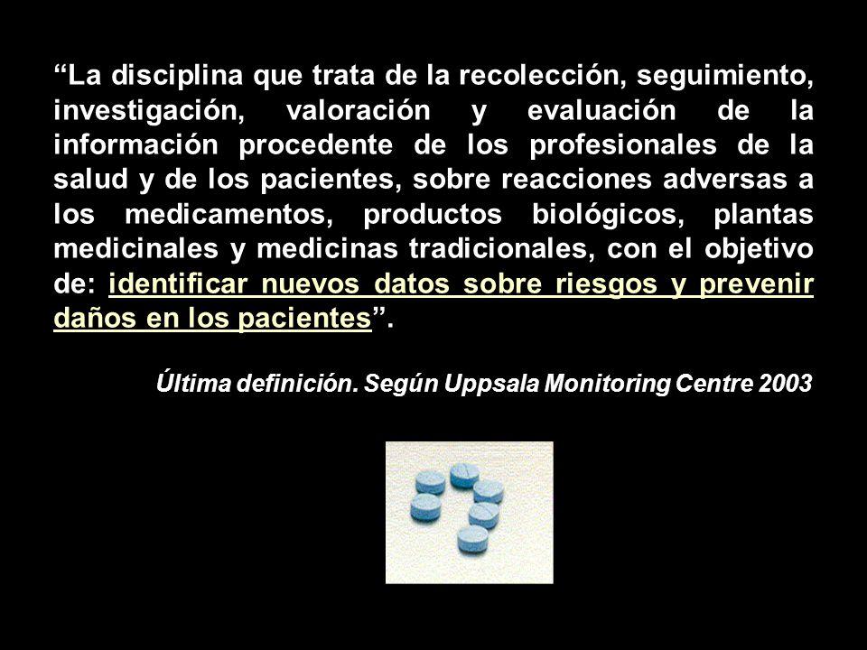SURGUIMIENTO Surge como resultado de situaciones relacionadas con respuestas no deseadas al uso de los medicamentos …..Talidomida, droga maldita que ha provocado la desgracia de muchas familias….