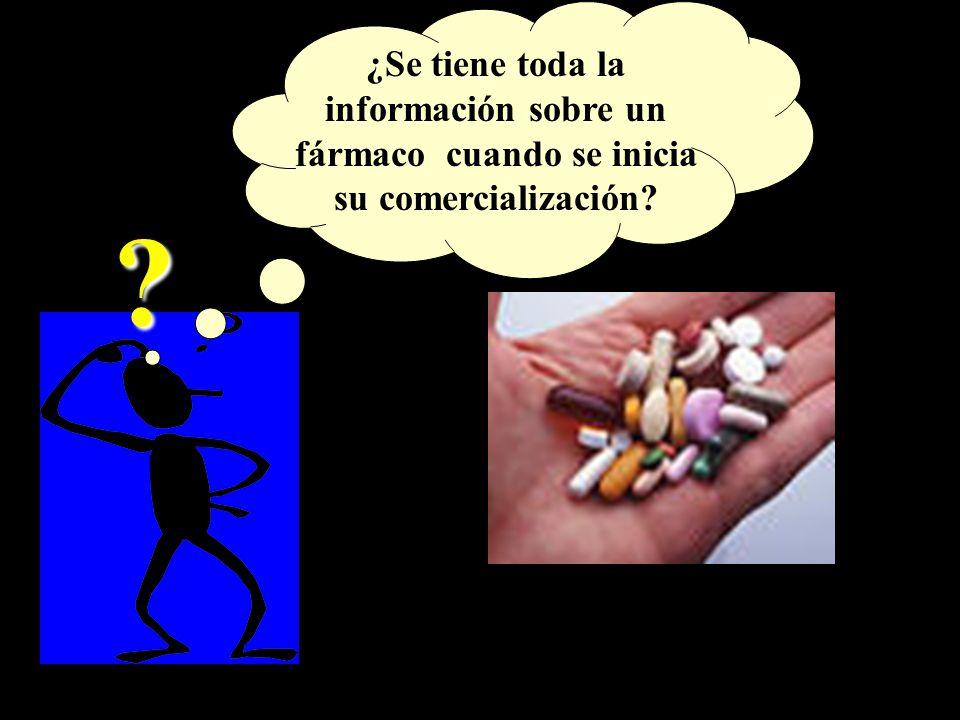 Al introducir un medicamento en el mercado poco se conoce de él por las siguientes razones.