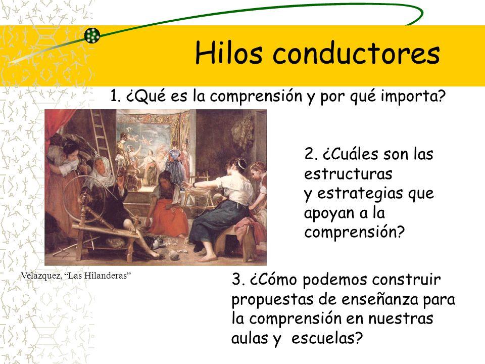 Hilos conductores Velazquez, Las Hilanderas 1. ¿Qué es la comprensión y por qué importa? 3. ¿Cómo podemos construir propuestas de enseñanza para la co