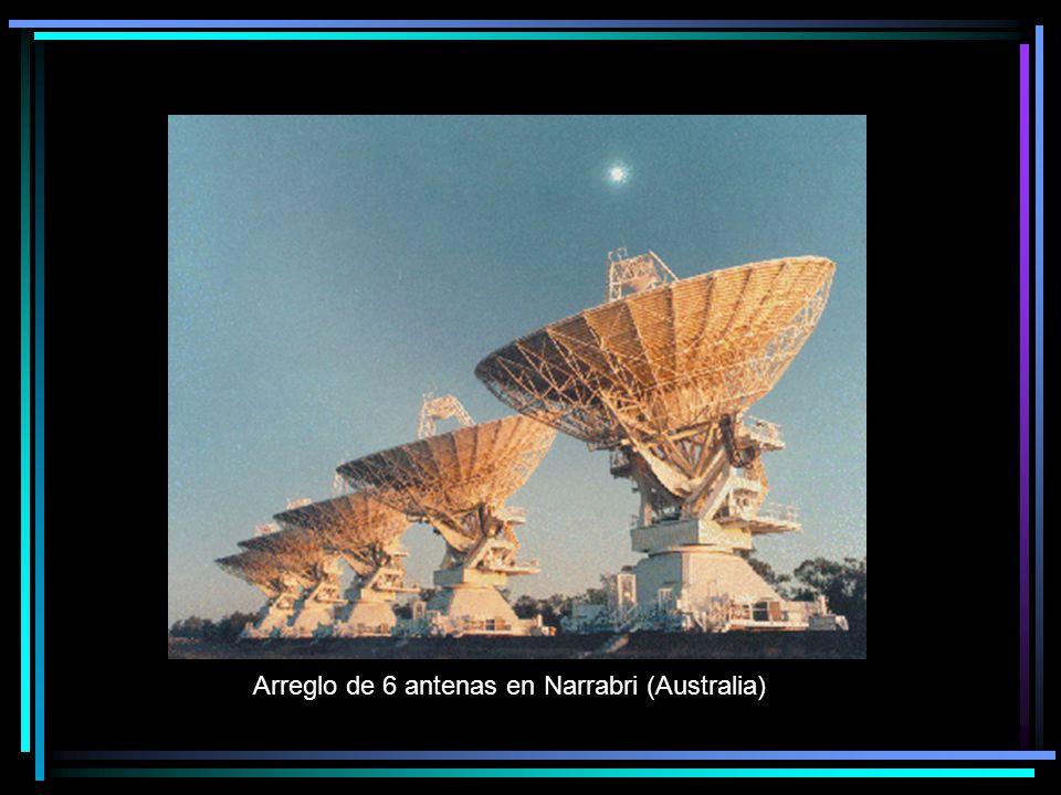 Arreglo de 6 antenas en Narrabri (Australia)