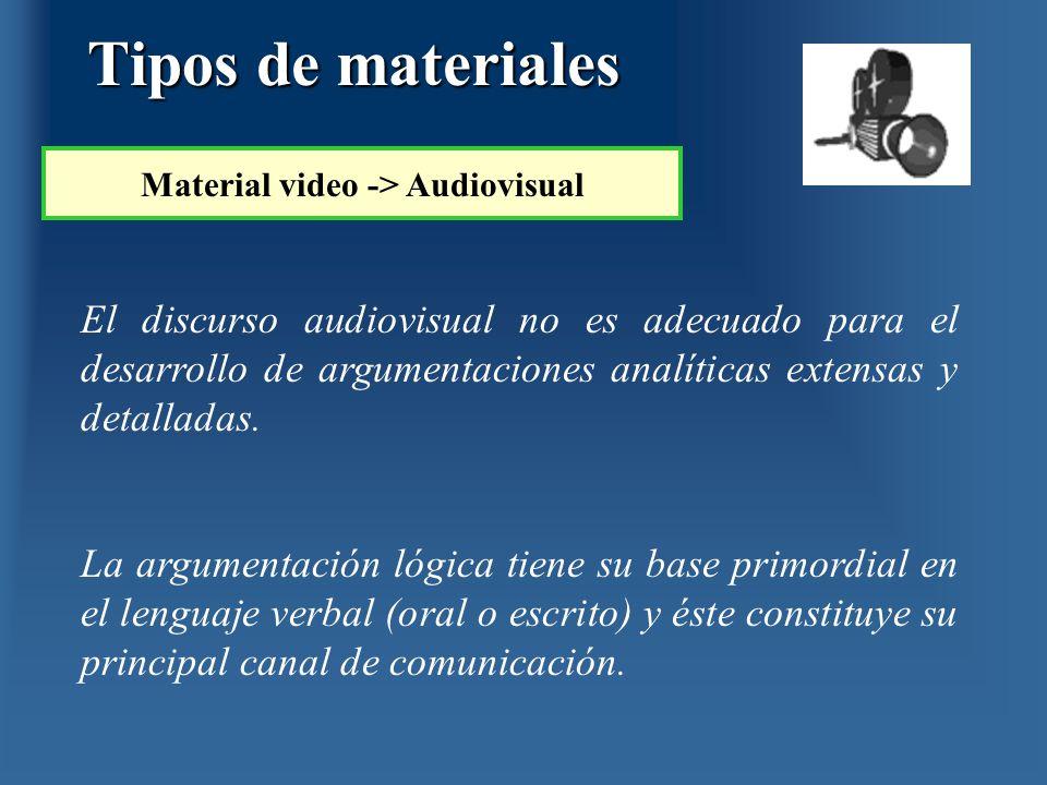 El discurso audiovisual no es adecuado para el desarrollo de argumentaciones analíticas extensas y detalladas. La argumentación lógica tiene su base p