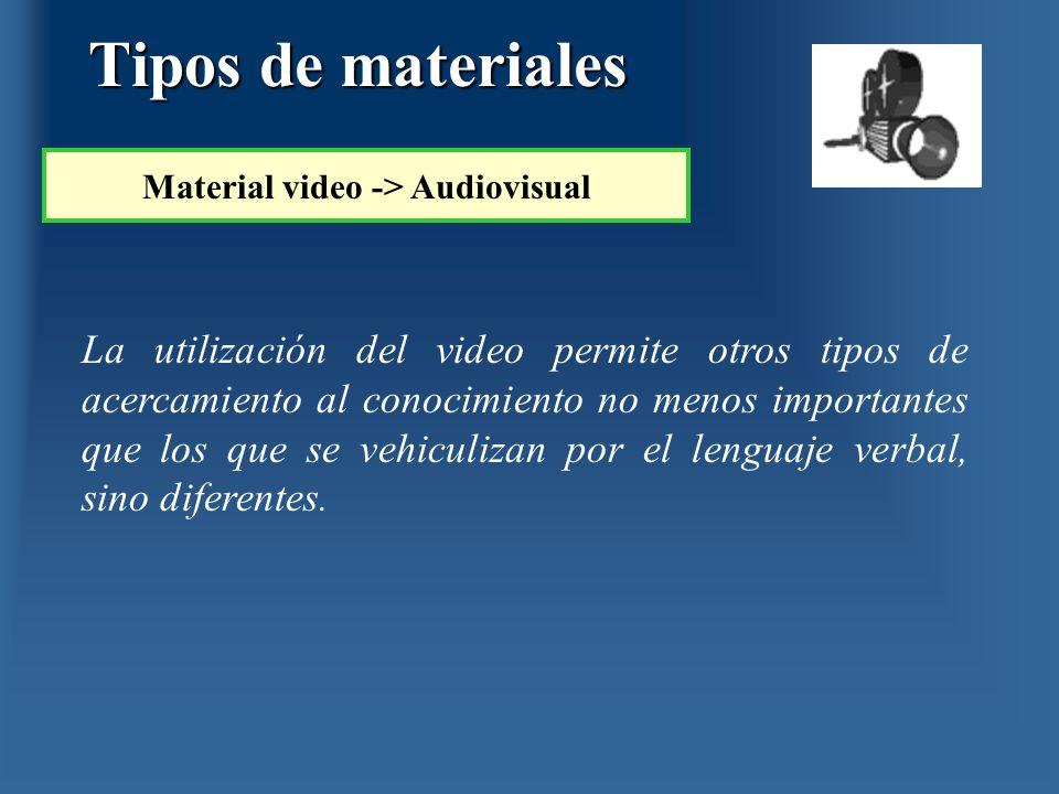 La utilización del video permite otros tipos de acercamiento al conocimiento no menos importantes que los que se vehiculizan por el lenguaje verbal, s