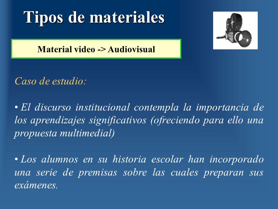 Caso de estudio: El discurso institucional contempla la importancia de los aprendizajes significativos (ofreciendo para ello una propuesta multimedial