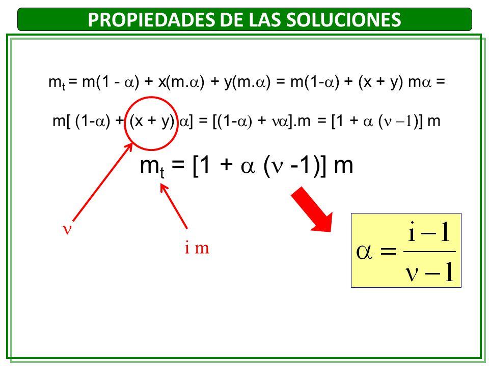 m t = m(1 - ) + x(m. ) + y(m. ) = m(1- ) + (x + y) m = m[ (1- ) + (x + y) ] = [(1- + ].m = [1 + ( )] m m t = [1 + ( -1)] m i m