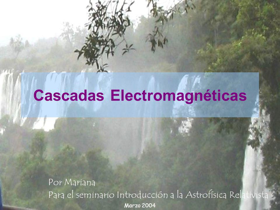 Cascadas Electromagnéticas Por Mariana Para el seminario Introducción a la Astrofísica Relativista Marzo 2004