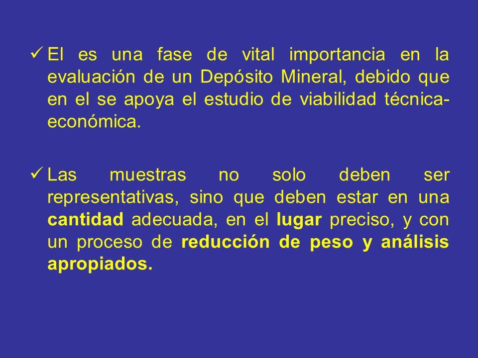El es una fase de vital importancia en la evaluación de un Depósito Mineral, debido que en el se apoya el estudio de viabilidad técnica- económica. La