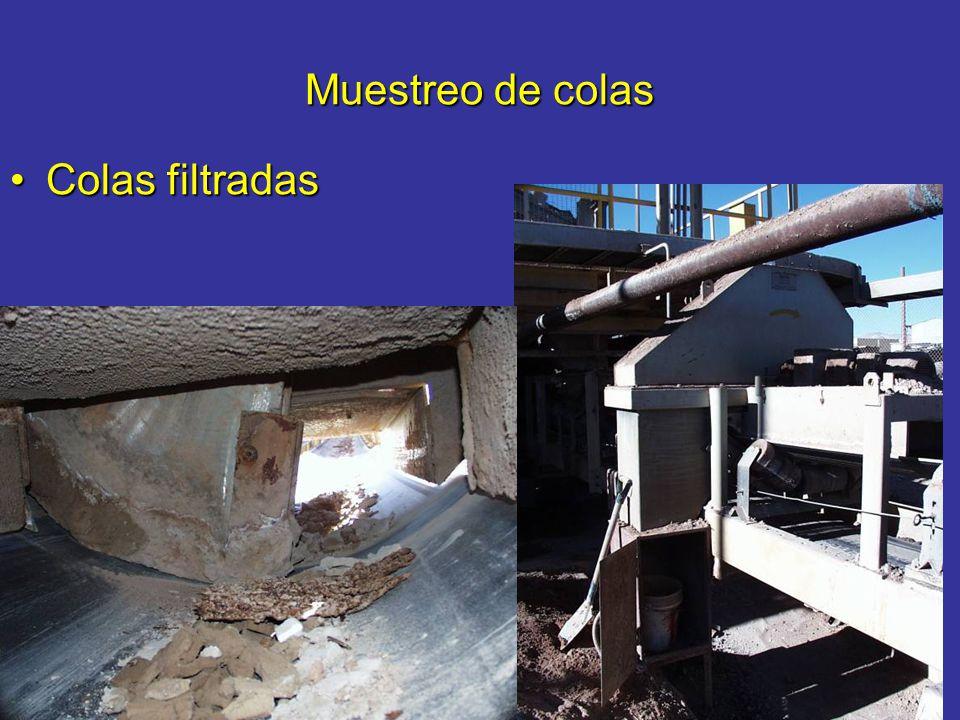 Muestreo de colas Colas filtradasColas filtradas