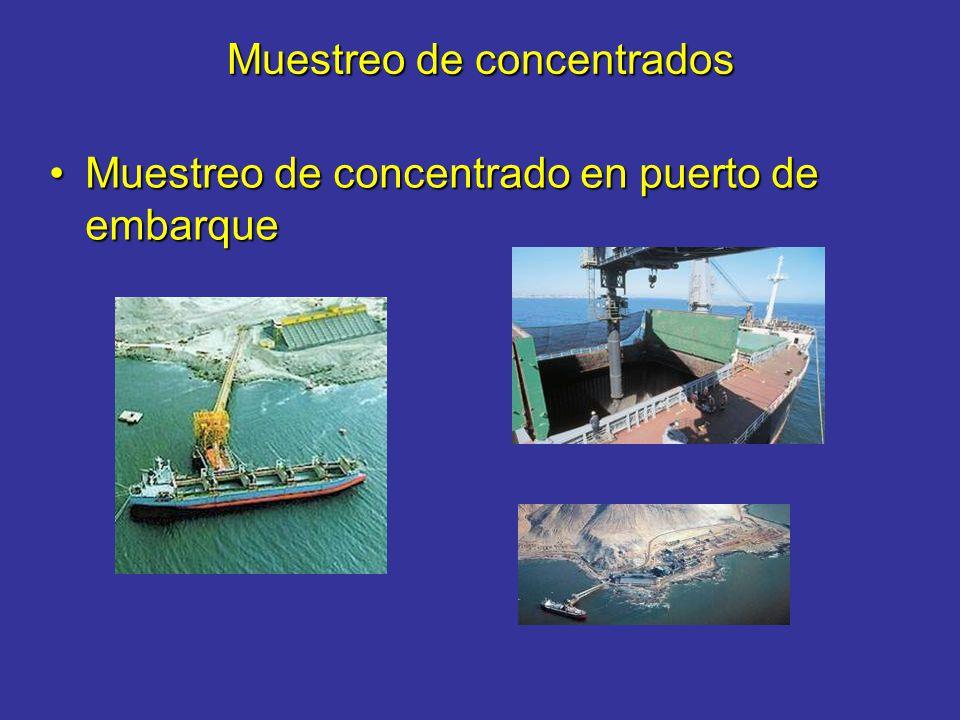 Muestreo de concentrados Muestreo de concentrado en puerto de embarqueMuestreo de concentrado en puerto de embarque