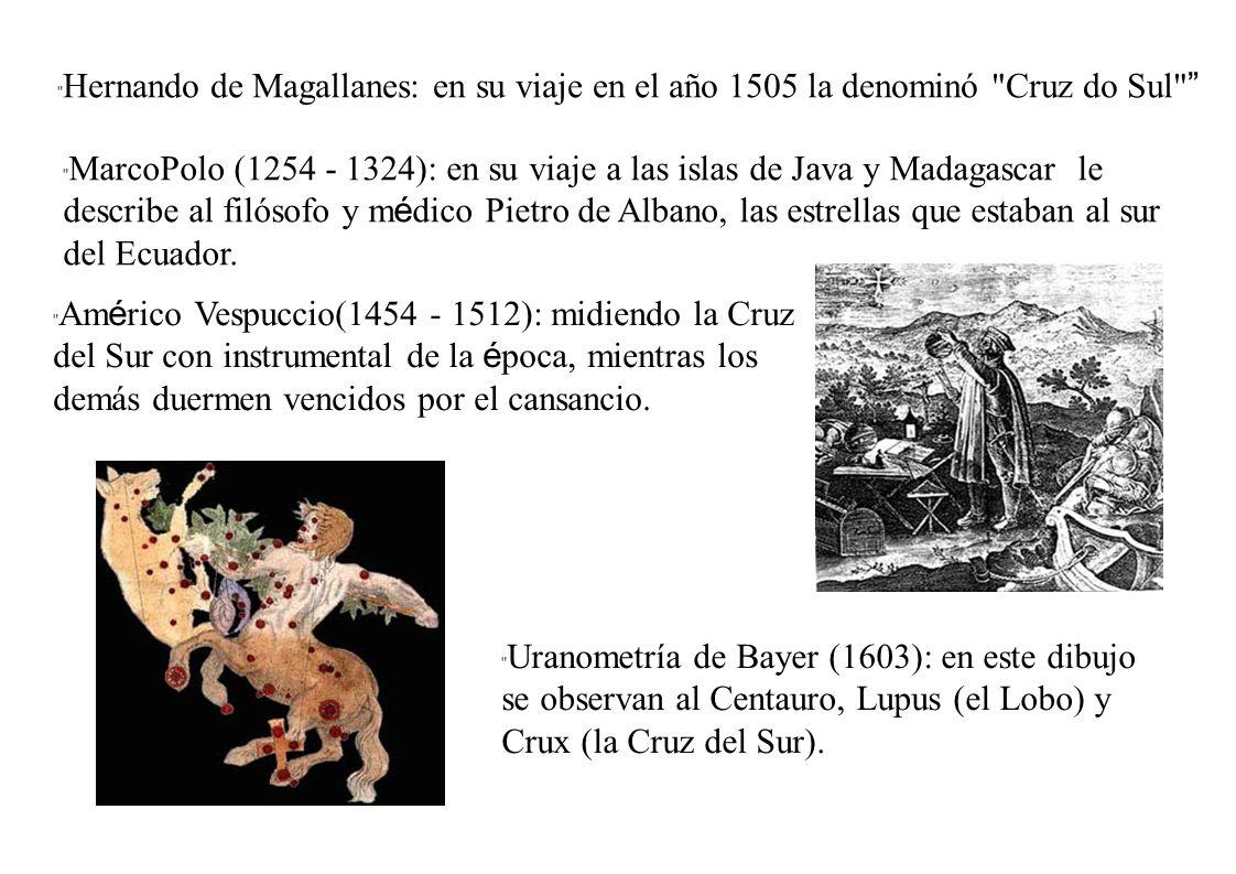Hernando de Magallanes: en su viaje en el año 1505 la denominó