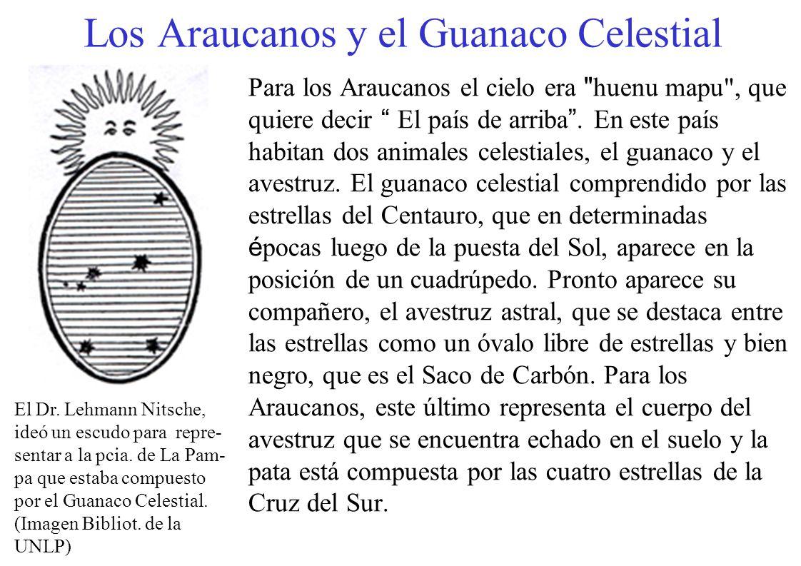 Los Araucanos y el Guanaco Celestial Para los Araucanos el cielo era
