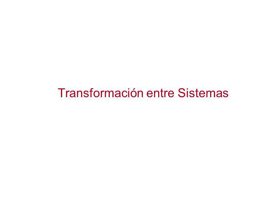 Transformación entre Sistemas