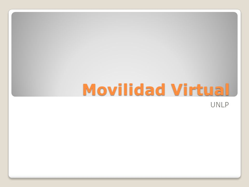 Movilidad Virtual UNLP
