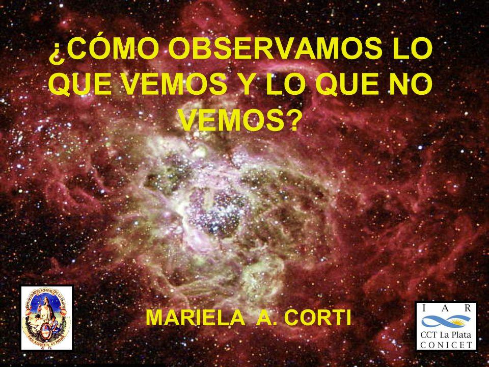 ¿CÓMO OBSERVAMOS LO QUE VEMOS Y LO QUE NO VEMOS MARIELA A. CORTI