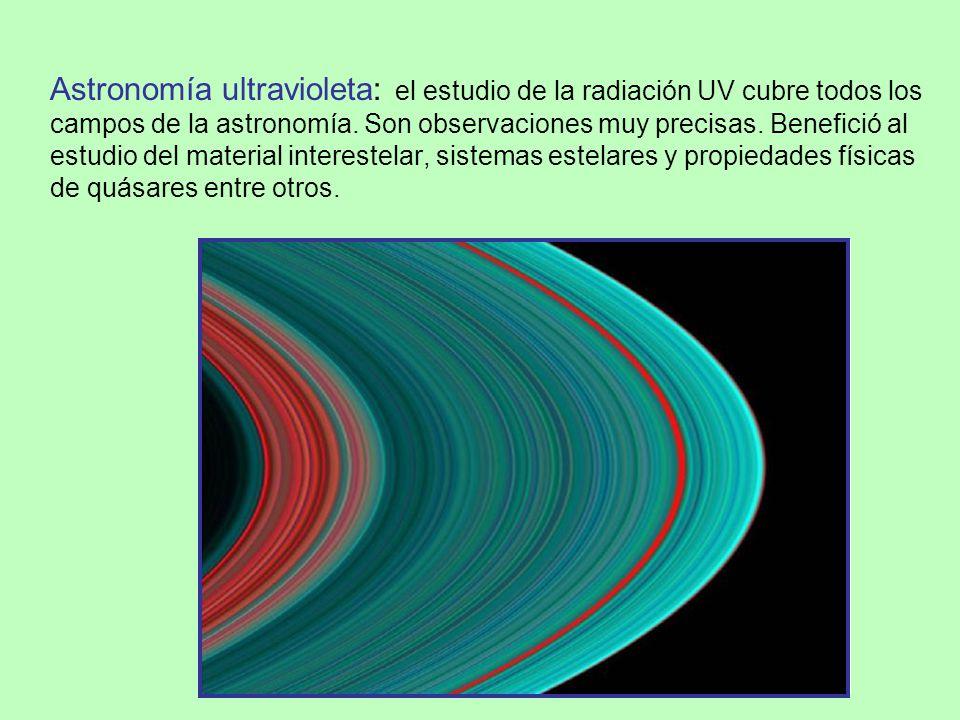 Astronomía ultravioleta: el estudio de la radiación UV cubre todos los campos de la astronomía.