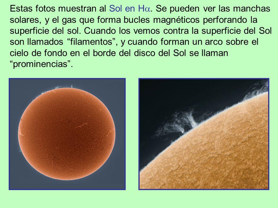 Estas fotos muestran al Sol en H.