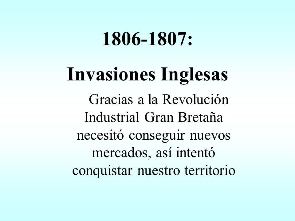1789 La Revolución Francesa Las ideas revolucionarias provocaron en Buenos Aires la formación de grupos como la Sociedad de los Siete, que soñaban con una república basada en los principios de Libertad, Igualdad y Fraternidad.