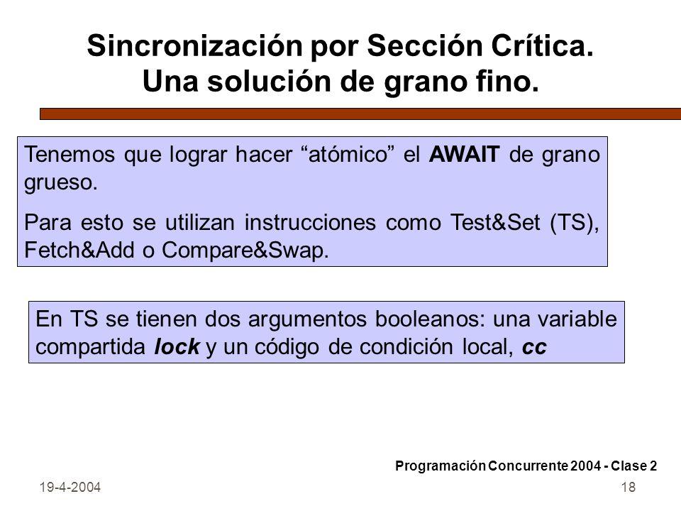 19-4-200418 Sincronización por Sección Crítica.Una solución de grano fino.