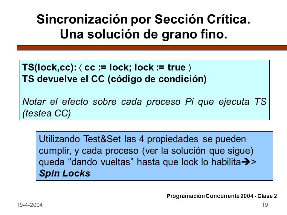 19-4-200419 Sincronización por Sección Crítica.Una solución de grano fino.