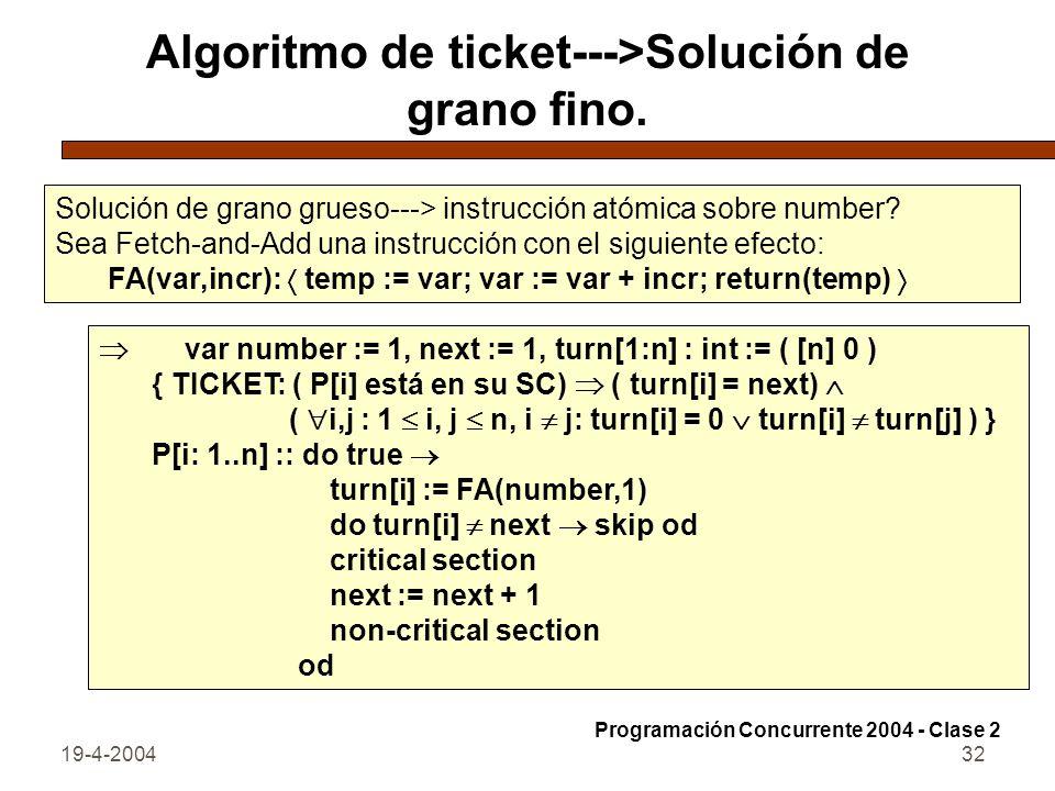 19-4-200432 Algoritmo de ticket--->Solución de grano fino.
