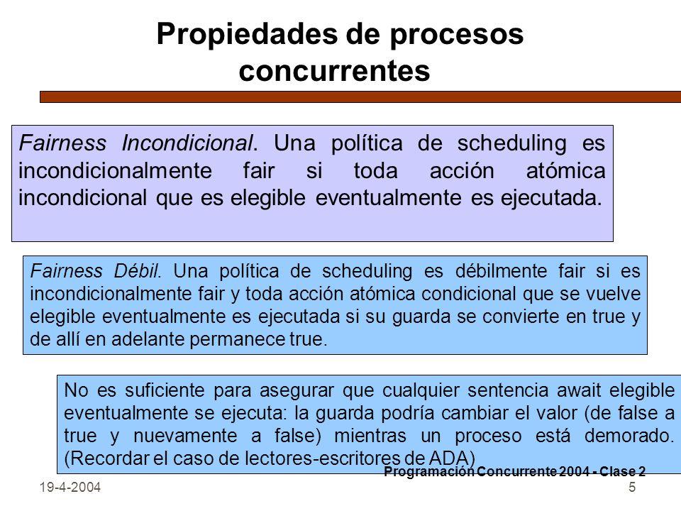 19-4-20045 Propiedades de procesos concurrentes Fairness Incondicional.