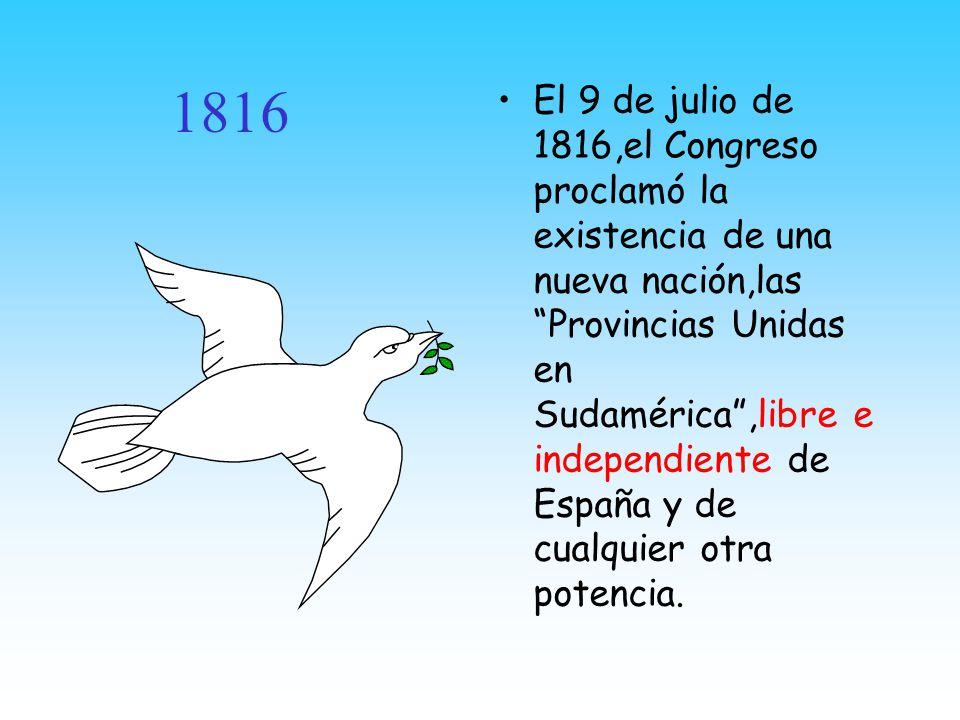 B BB Buenos Aires de fiesta La celebración porteña de la independencia recién se realizo el 13 de septiembre de 1816,cuando asomó el Sol después de muchos días de mal tiempo.