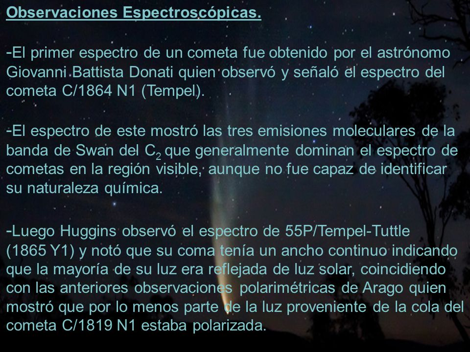 20 Observaciones Espectroscópicas.