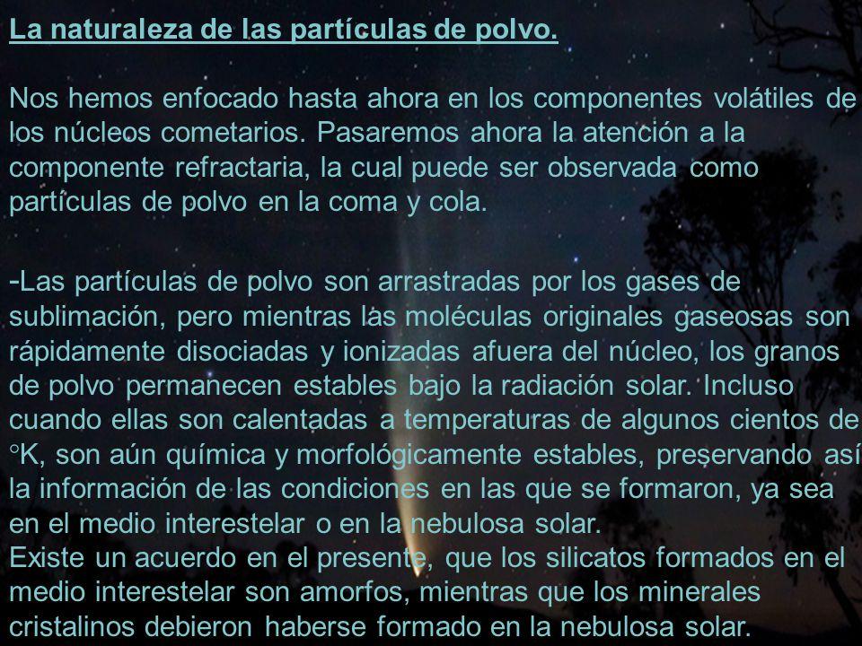 35 La naturaleza de las partículas de polvo.
