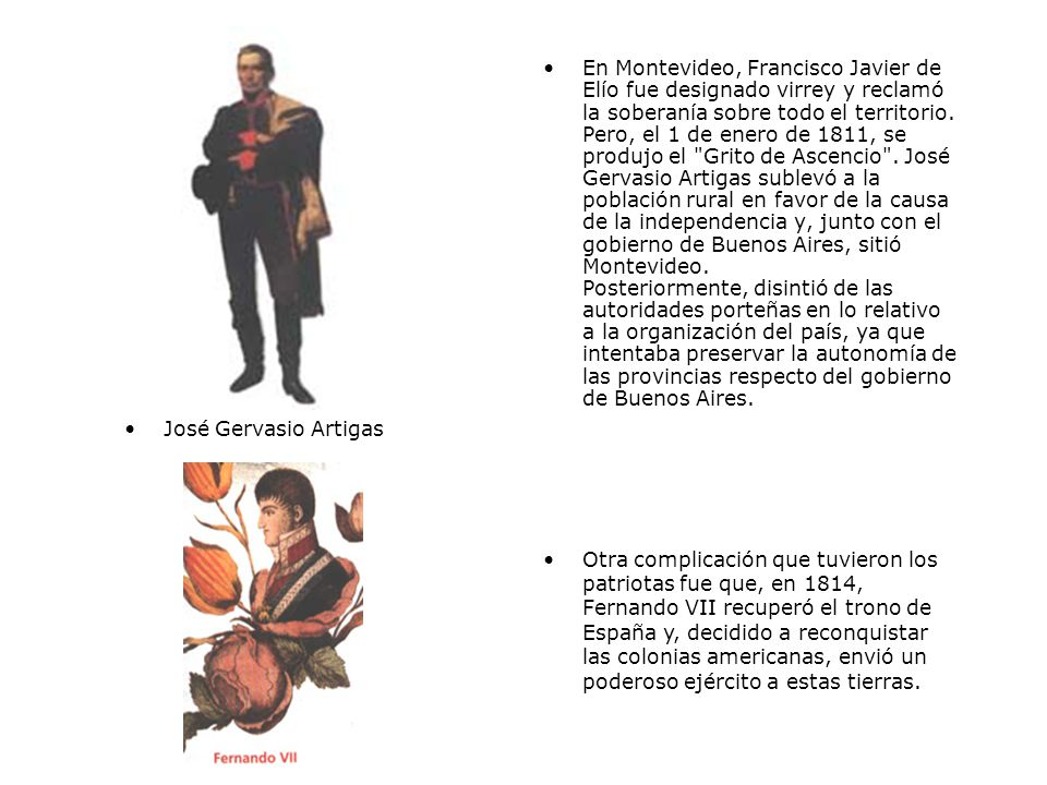 En Montevideo, Francisco Javier de Elío fue designado virrey y reclamó la soberanía sobre todo el territorio.