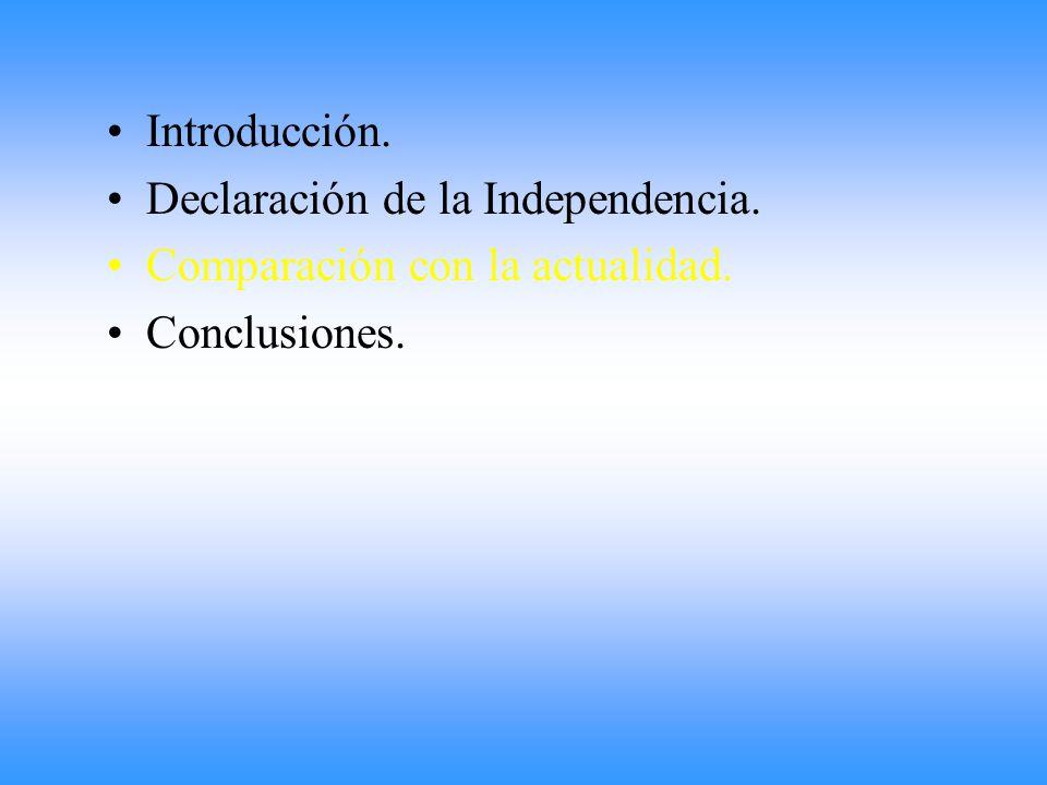 El 19 de julio de 1816 se realizó una enmienda en el Acta de la Independencia.