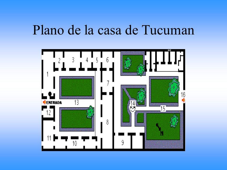 La historia de la Casa de Tucumán La casa la cedió doña Francisca Bazán de Laguna. Se encontraba en la calle El Rey, hoy, ocupa el numero 151 de la ca