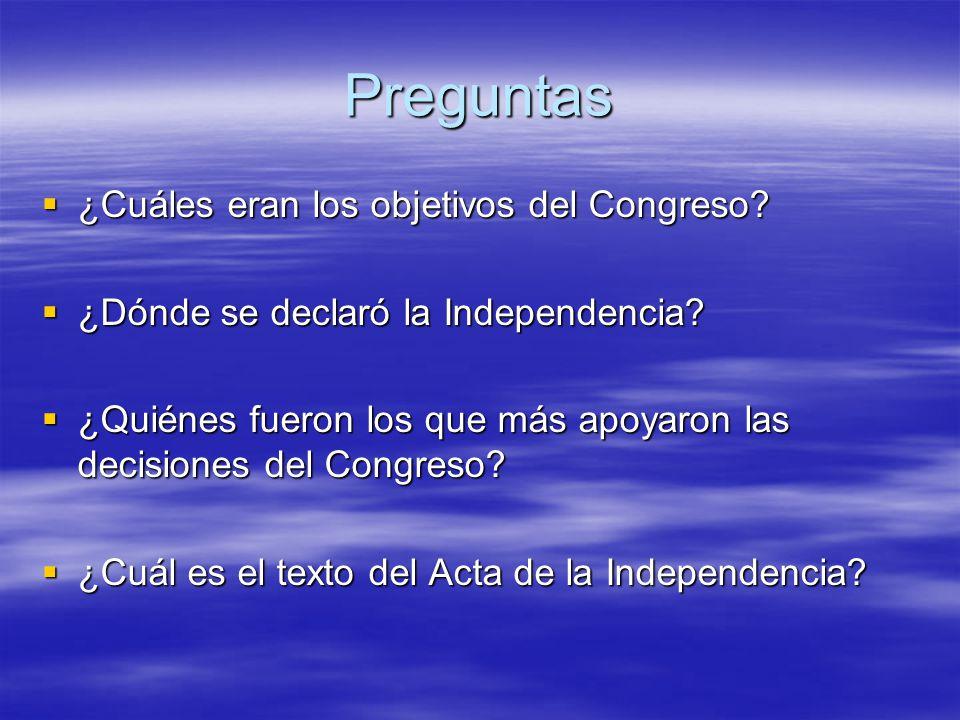 9 de julio de 1816 Día de la independencia