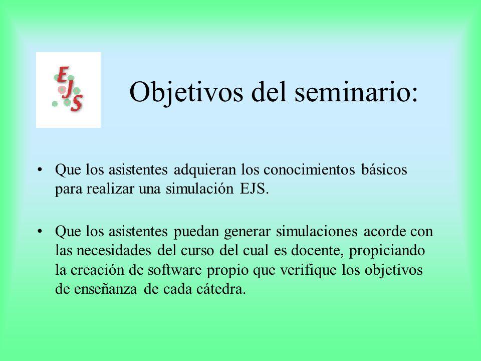 Fuentes de información: Manual EJS 3.1 Apéndices EJS 3.1 Curso de Java 1.