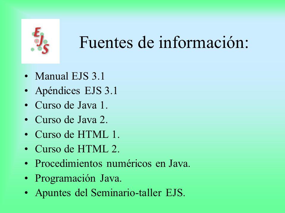 EJS Software que crea simulaciones computacionales.