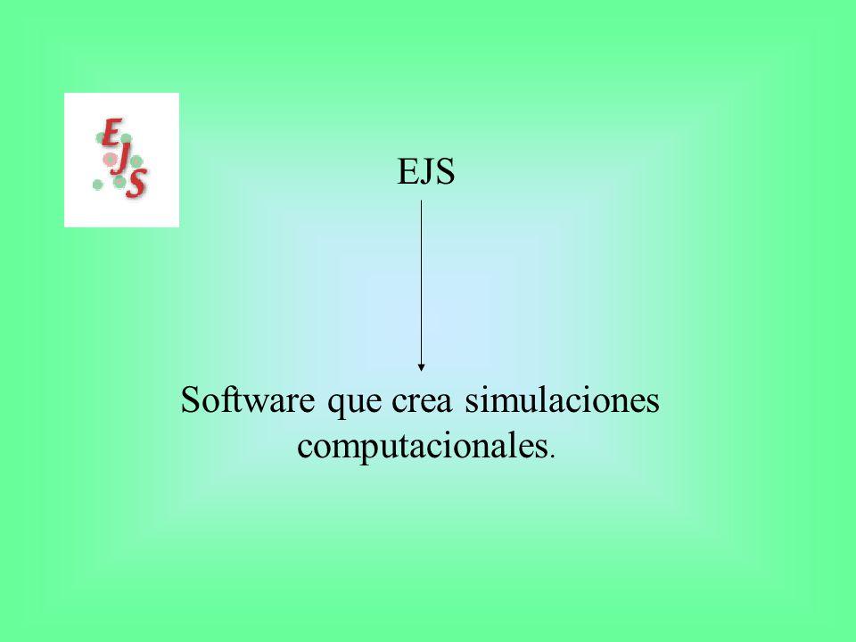 Simulación computacional Programa que trata de reproducir un fenómeno natural a través de la visualización de los diferentes estados que éste puede tener.