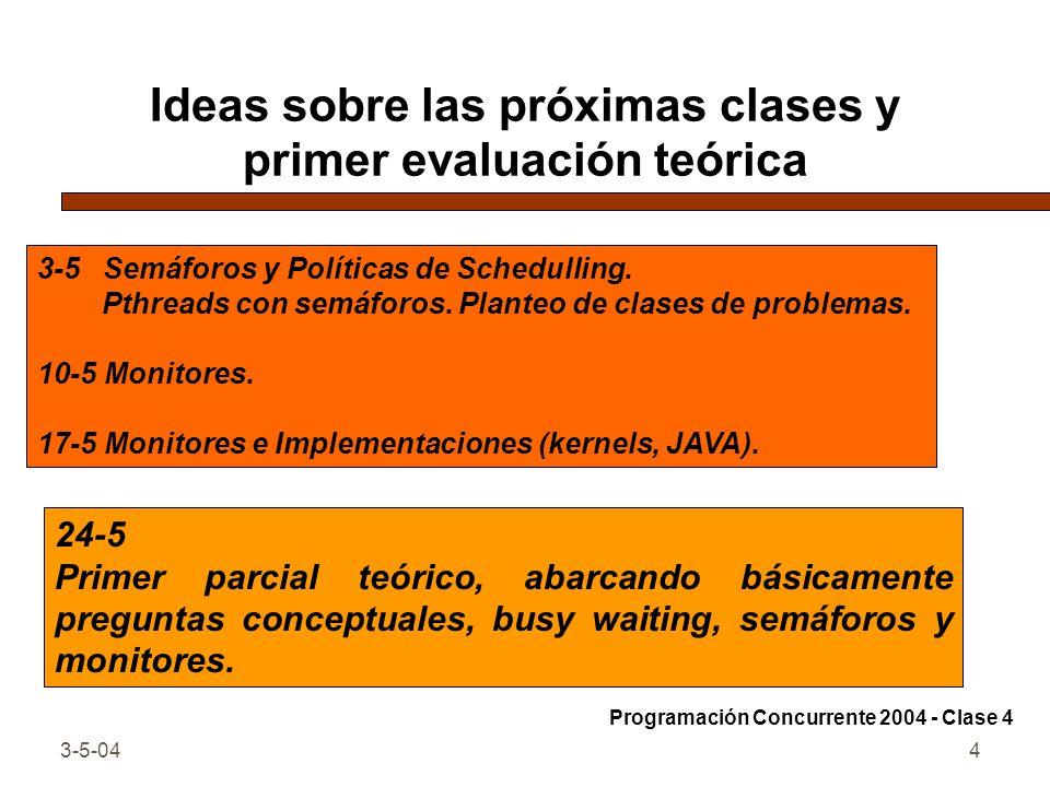 3-5-044 Ideas sobre las próximas clases y primer evaluación teórica 24-5 Primer parcial teórico, abarcando básicamente preguntas conceptuales, busy wa