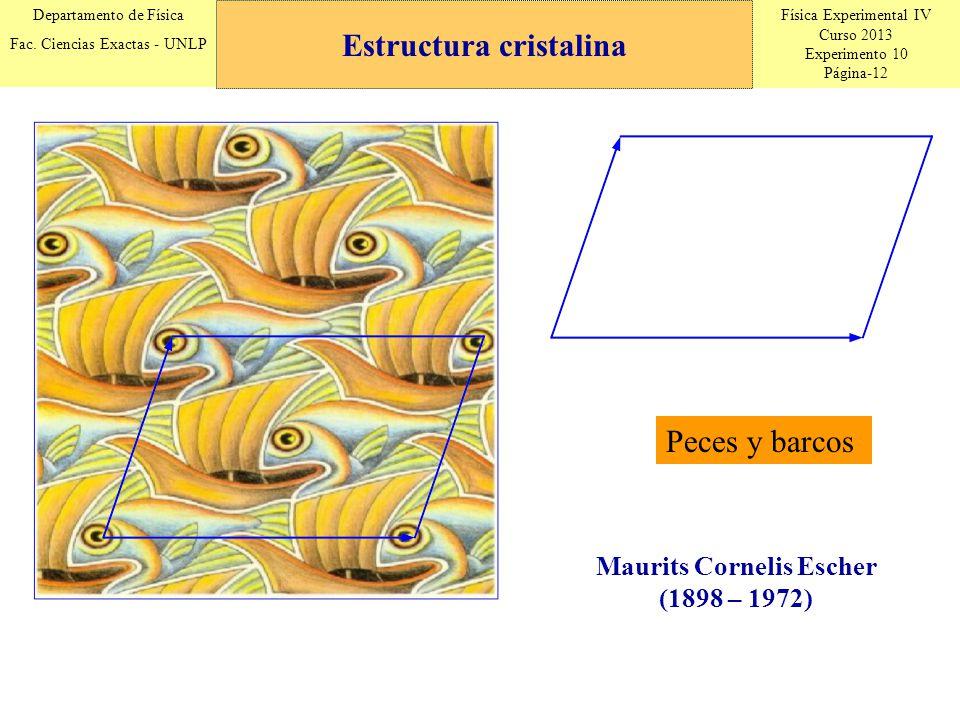 Física Experimental IV Curso 2013 Experimento 10 Página-12 Departamento de Física Fac. Ciencias Exactas - UNLP Estructura cristalina Peces y barcos Ma
