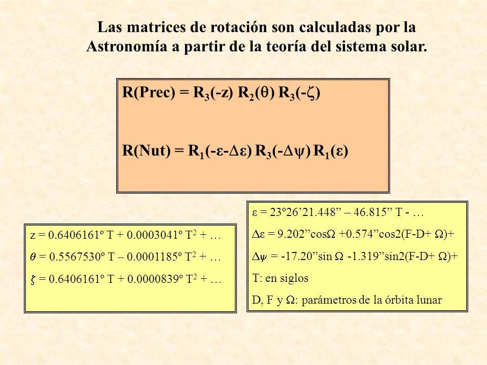 z = 0.6406161º T + 0.0003041º T 2 + … = 0.5567530º T – 0.0001185º T 2 + … = 0.6406161º T + 0.0000839º T 2 + … ε = 23º2621.448 – 46.815 T - … ε = 9.202