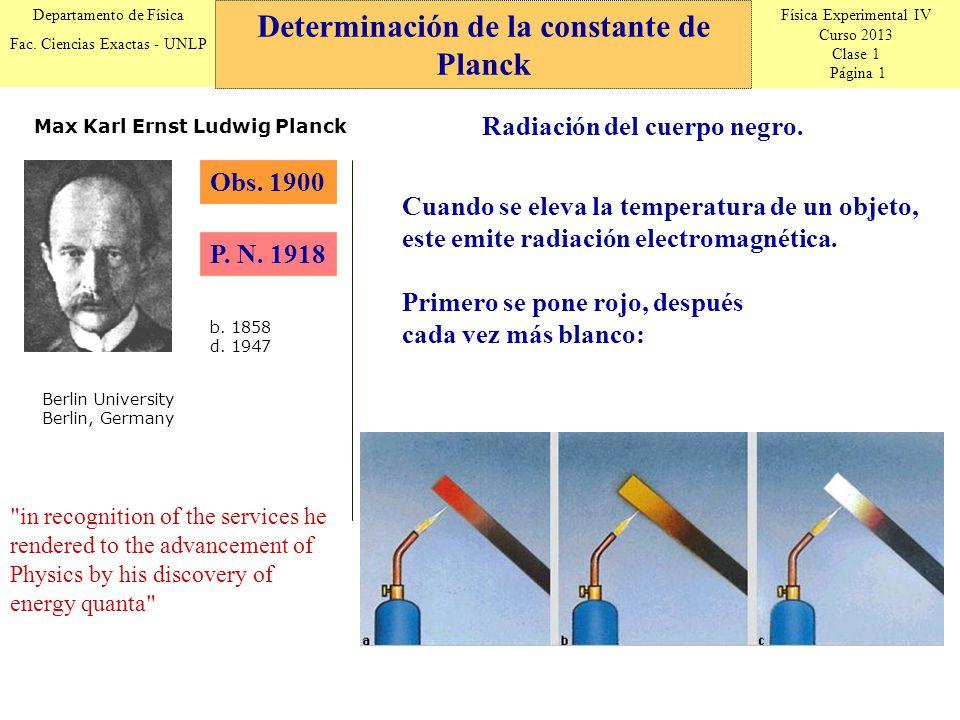 Física Experimental IV Curso 2013 Clase 1 Página 1 Departamento de Física Fac.
