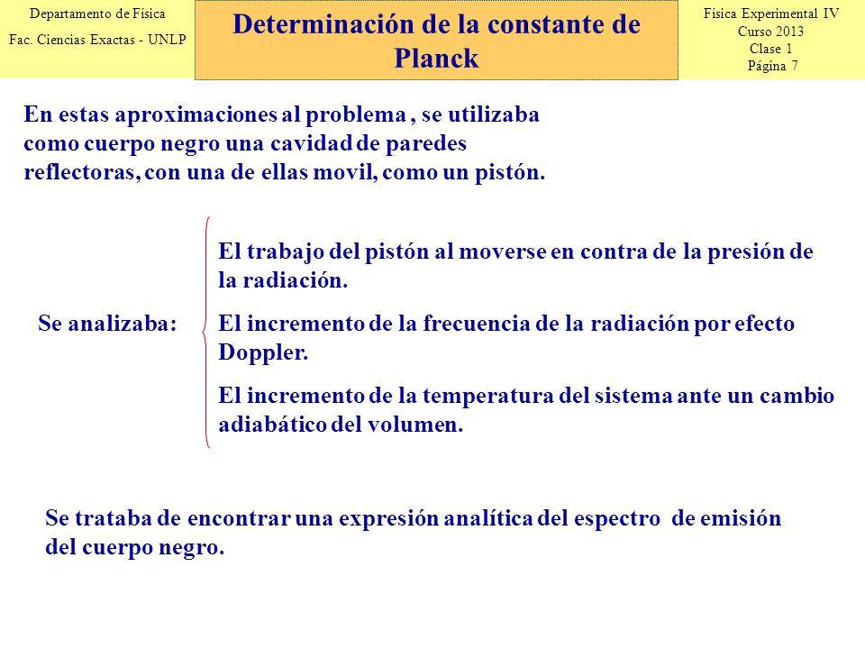 Física Experimental IV Curso 2013 Clase 1 Página 7 Departamento de Física Fac.