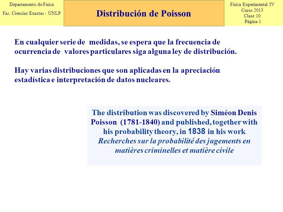 Física Experimental IV Curso 2013 Clase 10 Página-2 Departamento de Física Fac.