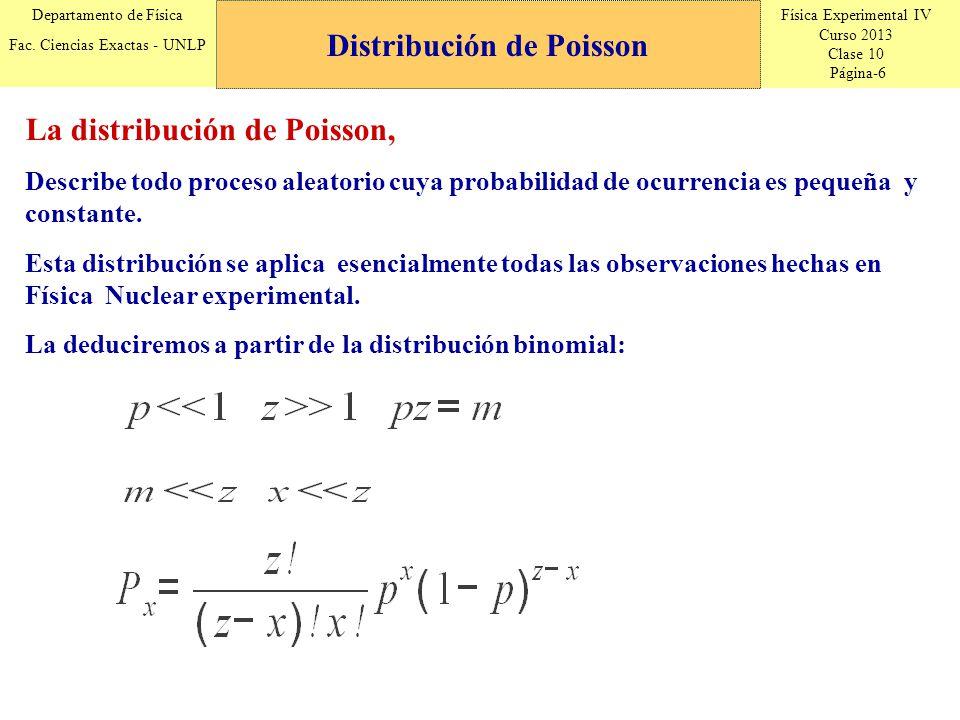 Física Experimental IV Curso 2013 Clase 10 Página-17 Departamento de Física Fac.