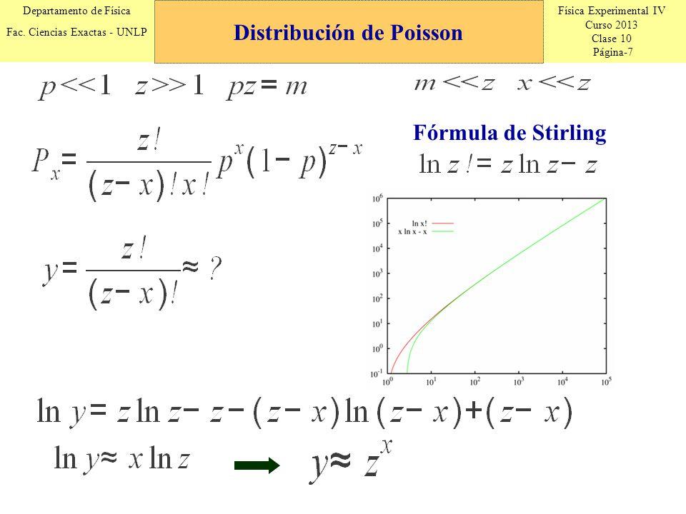 Física Experimental IV Curso 2013 Clase 10 Página-18 Departamento de Física Fac.